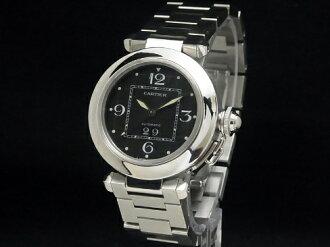 Cartier-CARTIER - Pasha C big date black dial SS/SS automatic ladies men boys