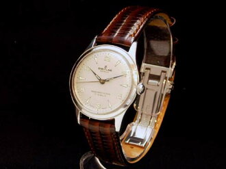 Breitling - BREITLING - vintage 50's SS / leather men's hand winding