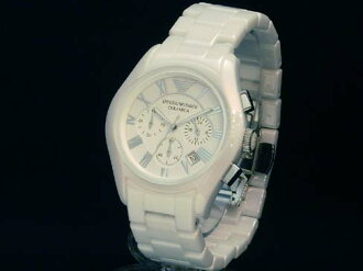 Emporio-Armani - Emporio Armani AR 1403 quartz white ceramic men's