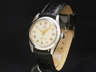 Tudor - TUDOR - Cobra オイスターローマン White Dial gold index SS / leather hand wound mens