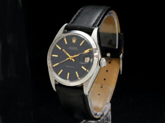 Rolex - ROLEX - Oyster date Ref.6694 Navy face SS case / leather men's hand caught Sakura-shinmachi Marathon02P02feb13