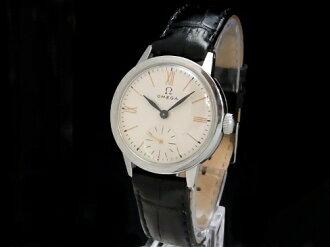 Omega - OMEGA - Roman smoseco White Dial hand winding SS leather vintage medium Sakura shimmachi