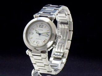 Cartier - CARTIER - Pasha C smoldering white-board SS case /SS breath automatic roll medium