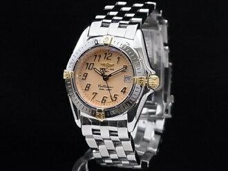 Brightman ring - BREITLING - chalice Tino B52045 18KYG/SS salmon pink clockface quartz Lady's