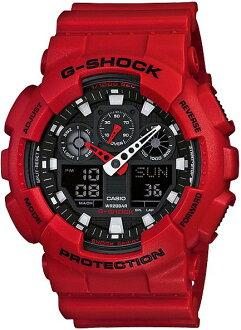 G-SHOCKGショックGA-100B-4AJFCASIO腕時計【国内正規品】メンズ【送料無料】8月新作ワイドフェイスが好評のアナログとデジタルのコンビネーションモデル【smtb-MS】