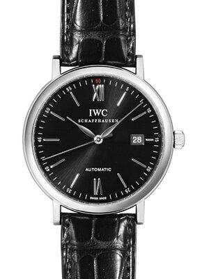 【新品】IWC メンズ IW356502 ポートフィノ オートマティック SS/レザー ブラック 自動巻き メンズ 【送料無料】【き手数料無料】