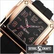スティールクラフト腕時計 [STEELCRAFT時計](STEELCRAFT 腕時計 スティールクラフト 時計) VELVET GENTS-3HANDS (VELVET GENTS-3HANDS) メンズ時計/ブラック/CGQ3053P [スクウェア][送料無料][プレゼント/ギフト][父の日/贈り物]