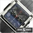 スティールクラフト腕時計 [STEELCRAFT時計](STEELCRAFT 腕時計 スティールクラフト 時計) VELVET GENTS-CHRONO (VELVET GENTS-CHRONO) メンズ時計/ブラック/CGQC031P [スクウェア][送料無料][プレゼント/ギフト][父の日/贈り物]