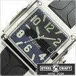 スティールクラフト腕時計 [STEELCRAFT時計](STEELCRAFT 腕時計 スティールクラフト 時計) VELVET LADIES-3HANDS (VELVET LADIES-3HANDS) レディース時計/ブラック/CLQ3010P [スクウェア][送料無料][プレゼント/ギフト]