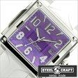 スティールクラフト腕時計[STEELCRAFT時計](STEELCRAFT 腕時計 スティールクラフト 時計) VELVET LADIES-3HANDS (VELVET LADIES-3HANDS) レディース時計/パープル/CLQ3041P[スクウェア][送料無料][プレゼント/ギフト]