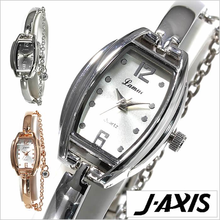 ジェイアクシス腕時計 J-AXIS時計 J-AXIS 腕時計 ジェイアクシス 時計 レディース ホワイト ブラック AL1259[おしゃれ 2連 チェーン かわいい ガラスチャーム ピンクゴールド シルバー j-axis キラキラ][プレゼント ギフト][卒業 入学 就職 祝い 高校生 大学生 社会人]