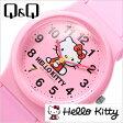 シチズン腕時計 CITIZENQ&Q時計 CITIZEN Q&Q 腕時計 シチズン 時計 ハローキティ HELLO KITTY レディース/ピンク Q643X030[可愛い デザインウォッチ HALLO KITTY pink][プレゼント/ギフト]