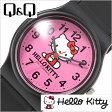 シチズン腕時計 CITIZENQ&Q時計 CITIZEN Q&Q 腕時計 シチズン 時計 ハローキティ HELLO KITTY レディース/ピンク Q643X034[可愛い デザインウォッチ HALLO KITTY ブラック Pink][プレゼント/ギフト]