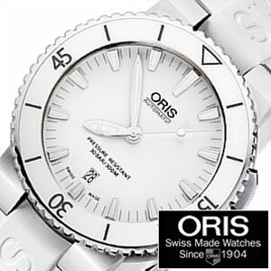 [正規品 2年保証]オリス腕時計 ORIS時計 ORIS 腕時計 オリス 時計 ダイバー アクイス デイト Diving Aquis Date メンズ ホワイト 733.7653.4156R[機械式 革ベルト 自動巻き 300m防水 防水 ホワイト] 売れ筋[送料無料][プレゼント ギフト][F] 【クーポン配布中】[ポイント5倍][5年保証対象][期間限定]ORIS時計 オリス腕時計 ORIS 腕時計 オリス 時計 ダイバーアクイス デイト DivingAquis Date