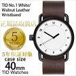 ティッドウォッチ腕時計 TIDWatches時計 TID Watches 腕時計 ティッド TIDウォッチ 時計 TID腕時計 メンズ/レディース/ユニセックス/男女兼用/ホワイト TID01-WH-W[革 ベルト/おしゃれ/防水/北欧/ダーク ブラウン/ブラック][送料無料][プレゼント]