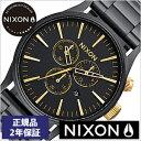 【クーポン配布中】[ポイント10倍][期間限定]NIXON時計 ニクソン腕時計 NIXON 腕時計 ニクソン 時計 セントリークロノ SentryChronoMatte Black/Gold