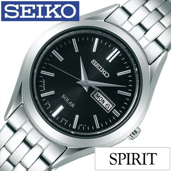 セイコー スピリット 腕時計 SEIKO 時計 SPIRIT SEIKO 腕時計 セイコー時計 メンズ ブラック STPX031[メタル ベルト 正規品 ソーラー ペア モデル シルバー V138 シンプル][送料無料][プレゼント ギフト] [30%OFF]【クーポン配布中】[5年保証対象][期間限定]SEIKO時計 セイコー腕時計 SEIKO 腕時計 セイコー 時計 スピリット SPIRIT