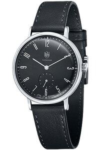 [送料無料][ポイント10倍]ドゥッファ腕時計DUFA時計DUFA腕時計ドゥッファ時計ヴァルター・グロピウスWalterGropiusメンズレディース/ブラックDF-9001-01[ブラック革ベルトアナログおしゃれ正規品ドイツ製バウハウスドッファデュッファ]