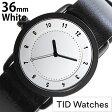 ティッドウォッチ腕時計 36mm TIDWatches時計 TID Watches 腕時計 ティッド ウォッチ 時計 TID No. 1 レディース/ホワイト TID01-WH36-BK[革 ベルト/正規品/おしゃれ/替え/北欧/ブラック][送料無料][ビジネス][プレゼント/ギフト]