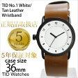 ティッドウォッチ腕時計 36mm TIDWatches時計 TID Watches 腕時計 ティッド ウォッチ 時計 TID No. 1 レディース/ホワイト TID01-WH36-T[革 ベルト/正規品/おしゃれ/替え/北欧/ブラウン/ブラック][送料無料][ビジネス][プレゼント/ギフト]
