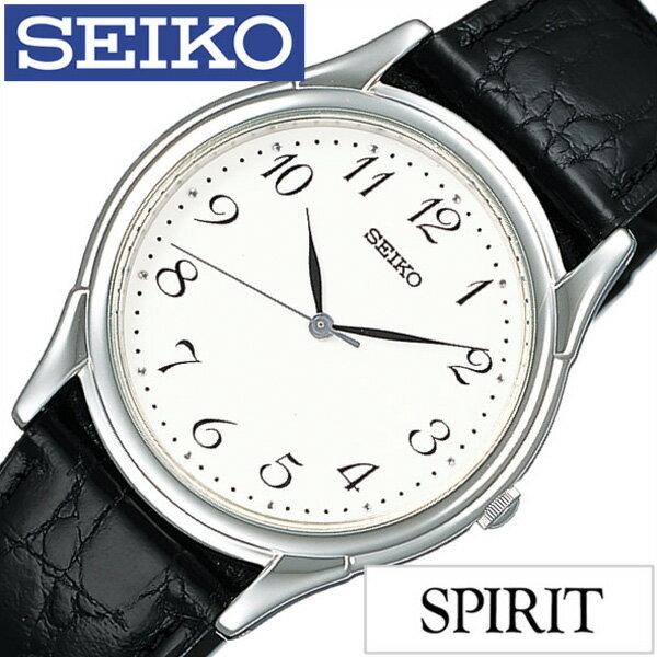 セイコー スピリット 腕時計 SEIKO 時計 SPIRIT SEIKO 腕時計 セイコー時計 メンズ ホワイト SBTB005[革 ベルト 正規品 防水 ブラック シルバー][クリスマス プレゼント ギフト]