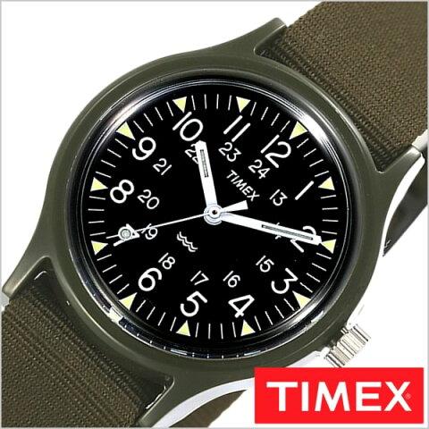 タイメックス腕時計 TIMEX時計 TIMEX 腕時計 ヘリテージ コレクション オリジナル キャンパー Heritage Collection Original Camper メンズ ブラック TW2P88400[正規品 NATO ベルト ナトー 日本企画モデル ファッションウォッチ グリーン][送料無料][あす楽]