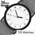 ティッドウォッチズ腕時計 TIDWatches時計 TID Watches 腕時計 ティッド ウォッチズ 時計 クヴァドラ Kvadrat メンズ/レディース/男女兼用/ホワイト TID01-WH36-GRANITE[No.1/正規品/おしゃれ/北欧/シンプル/革/レザー バンド/ホワイト][送料無料]