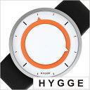 ヒュッゲ 時計 HYGGE 腕時計 3012 メンズ レディース ホワイト オレンジ HGE020025[正規品 北欧 ミニマル シンプル 個性的 インテリア ..