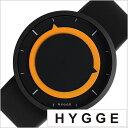 ヒュッゲ 時計 HYGGE 腕時計 3012 メンズ レディース ブラック イエロー HGE020027 正規品 北欧 ミニマル シンプル 個性的 インテリア ..