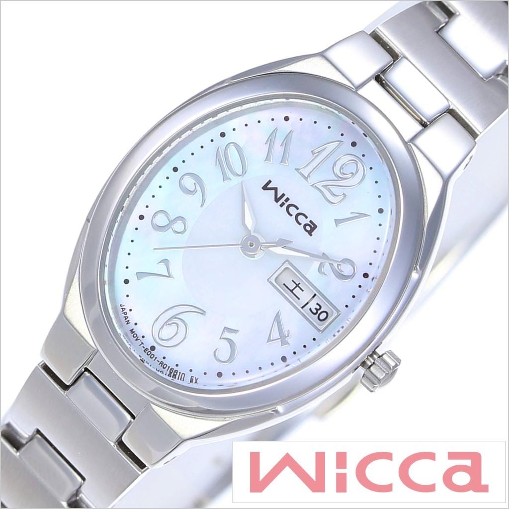 Wicca時計[シチズン ウィッカ腕時計] シチズンWicca時計[CITIZEN Wicca腕時計] シチズン ウィッカ 腕時計 ソーラーテック レディース シルバー KH3-118-91[おしゃれ かわいい スウィート ガーリー][送料無料][プレゼント ギフト]