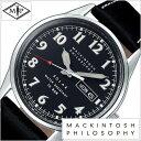 マッキントッシュ フィロソフィー 腕時計 MACKINTOSH PHILOSOPHY 時計 メンズ ブラック FBZD988 正規品 ファッション ブランド マニッシュ ロンドン おすすめ ビジネス スーツ カジュアル 防水 革 レザー プレゼント ギフト 夏