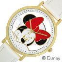 ディズニー ミニーマウス 時計 Disney Minnie Mouse 腕時計 レディース キッズ ウォッチ スケルトン WD-B13-MN[アナログ ゴールド キャ..