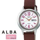 セイコー アルバ アンジェーヌ 時計 ALBA INGENU SEIKO 腕時計 レディース 女性 ホワイト AHJD110 シルバー ゴールド 革 シンプル 人気 プレゼント ギフト ラウンド かわいい カレンダー ファッション カジュアル ビジネス 夏