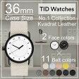 ティッドウォッチズ腕時計 TIDWatches時計 TID Watches 腕時計 ティッド ウォッチズ 時計 クヴァドラ Kvadrat メンズ/レディース/男女兼用 36mm TID01-WH36 TID01-BK36[No.1/正規品/おしゃれ/北欧/シンプル/革/レザー バンド/ブラック][送料無料][プレゼント/ギフト]