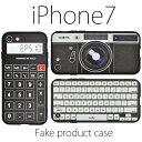 送料無料 iPhone7ケース カメラ 電卓 キーボード 黒...
