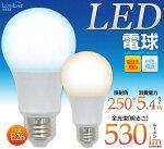 LED電球消費電力5.4W口金E26照射角250°全光束白色530lm電球色410lm26口金Ra80【LED146】【激安】【02P01Mar15】