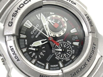 CASIO G-SHOCKカシオGショック 海外専売Model ChroographWrist watch Stainless steel×UrethaneCombCase BlackDial SilverStainless steelBelt G-1010D-1ADR