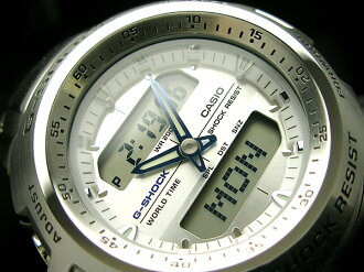 CASIO G-SHOCKカシオ 海外Model GショックアナデジWrist watch WhiteDial Stainless steelBelt G-741D-7AVDR