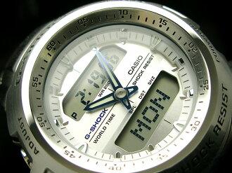 CASIO G-SHOCKカシオ 海外Model GショックアナデジWrist watch WhiteDial Stainless steelBelt G-741D-7AVDR