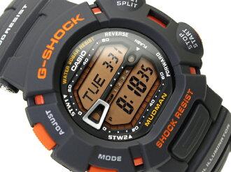 Imports overseas model G shock digital watch grey Orange liquid urethane belt g-9000MX-8