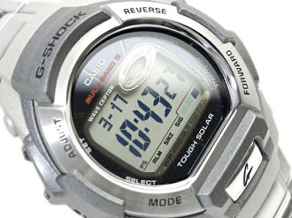 + Casio solar multi band 5 radio receiver with imports G shock digital watch シルバーコンビ stainless steel belt GW-800D-1VER
