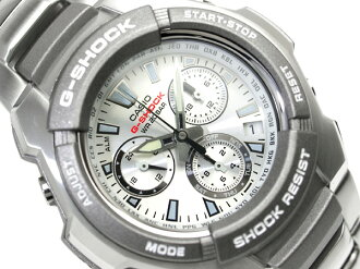 CASIO G-SHOCKカシオ 逆輸入Gショック ChroographWrist watch SilverDial Stainless steelBelt G-1000D-7A