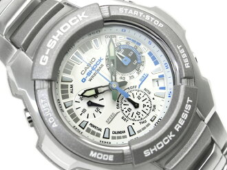 CASIO G-SHOCKカシオ 逆輸入Gショック ChroographWrist watch WhiteDial Stainless steelBelt G-1010D-7A