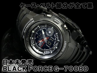 CASIO G-SHOCK BLACKFORCE カシオ逆輸入Gショック 海外Model アナデジWrist watch IPBlack BlackDial Stainless steelBelt G-700BD-1AVDR