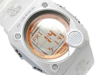 Casio G shock advanced design overseas model C3 digital wristwatch mirror LCD dial lame style white urethane belt g-8000F-7