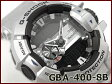 【ポイント2倍!!+全商品送料無料!!】Gショック ジーショック G-SHOCK カシオ CASIO 限定モデル ジーミックス G'MIX Bluetooth スマフォ連携モデル 逆輸入海外モデル アナデジ 腕時計 ブラック メタリックシルバー GBA-400-8BER GBA-400-8B