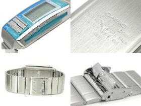 【CASIOFUTURIST】カシオ海外モデルフューチャリストレディースデジタル腕時計ライトブルー×グリーンコンビカラーライトブルーダイアルLA-201W-2A2