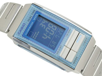 Casio overseas model Futurist ladies digital watch light blue blue dial LA-201W-2B