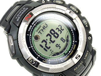 +-Casio protrek tough solar triple sensor with overseas models digital watch black urethane belt PRG-130-1 V