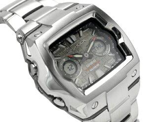 CASIOカシオ Gショック アドバンスドデザイン アナデジWrist watch Silver×GraySilver Metal belt 海外Model G-011D-8A
